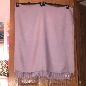 Pashmire Light Purple Blanket Scarf